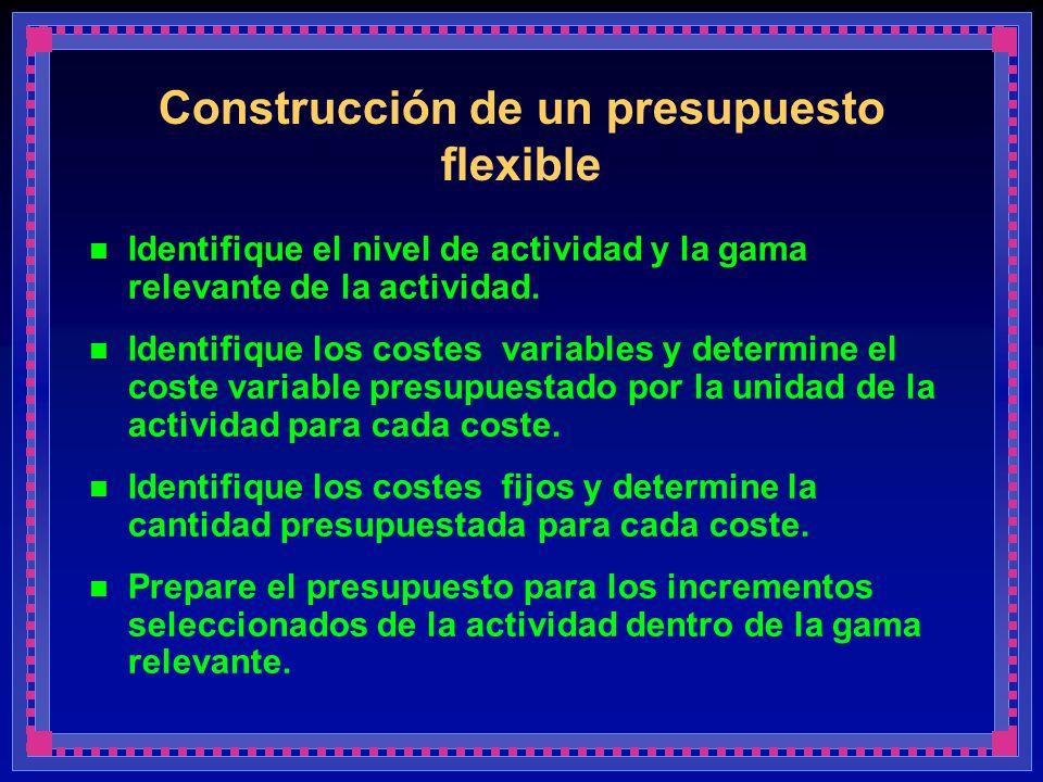 Construcción de un presupuesto flexible