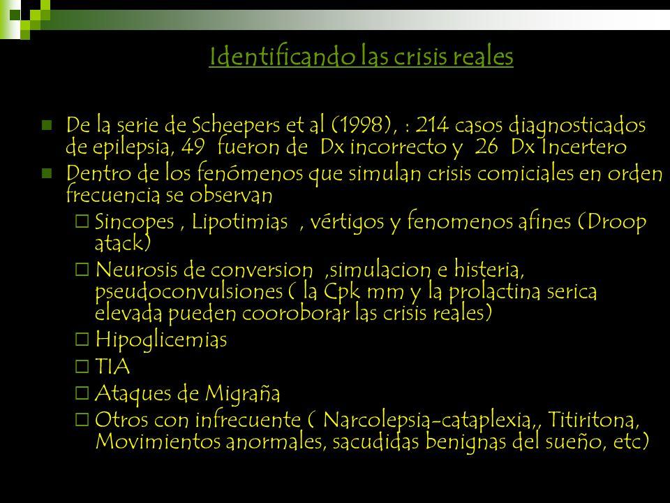 Identificando las crisis reales