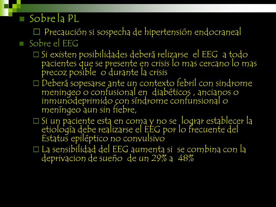 Precaución si sospecha de hipertensión endocraneal