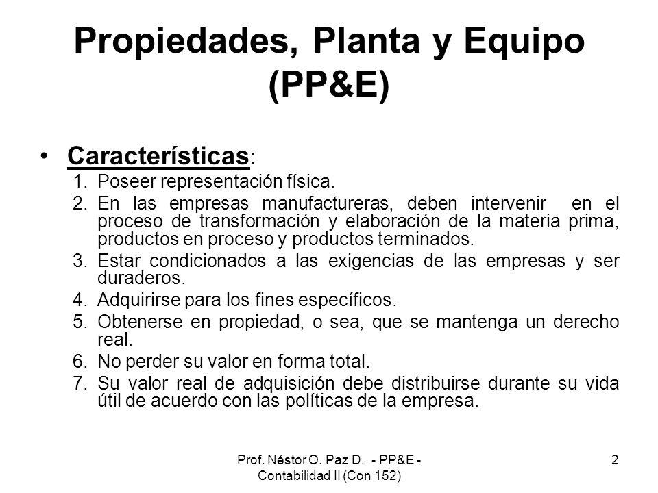 Propiedades, Planta y Equipo (PP&E)