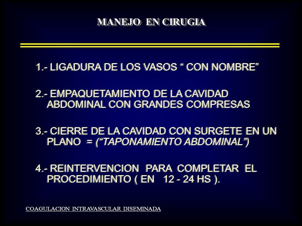 1.- LIGADURA DE LOS VASOS CON NOMBRE
