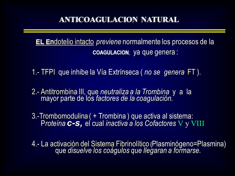 ANTICOAGULACION NATURAL