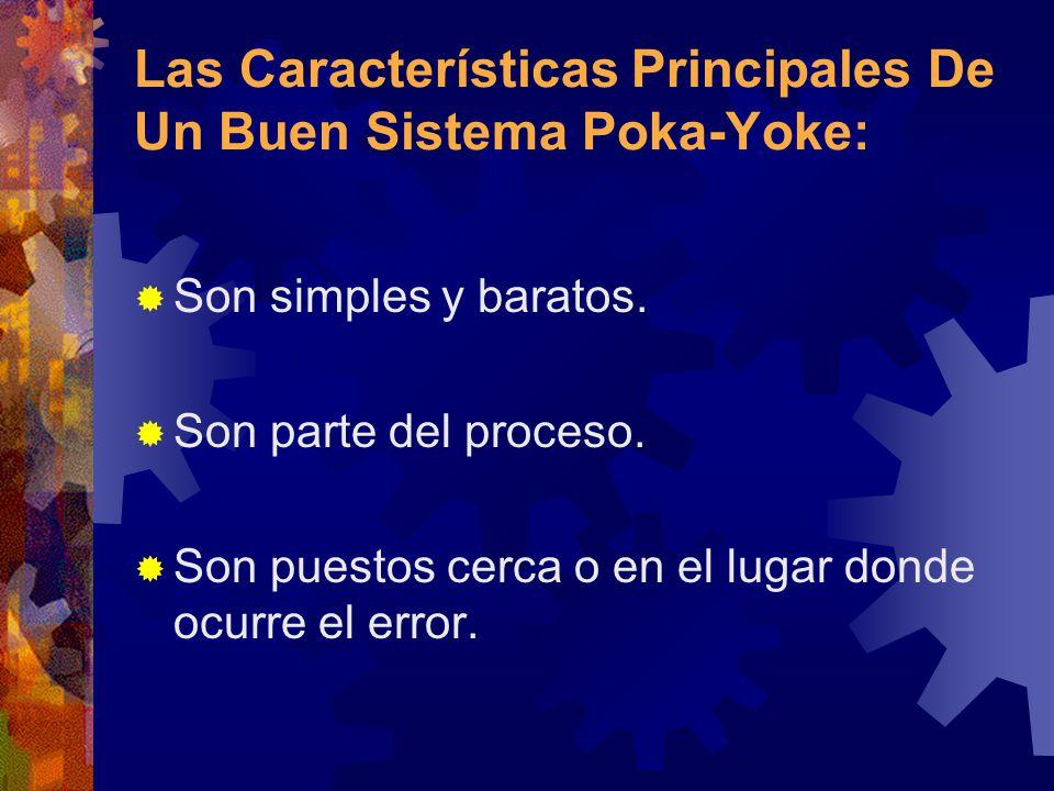 Las Características Principales De Un Buen Sistema Poka-Yoke: