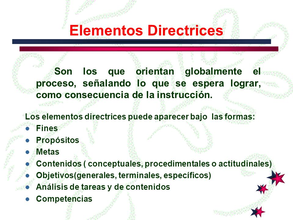 Elementos Directrices