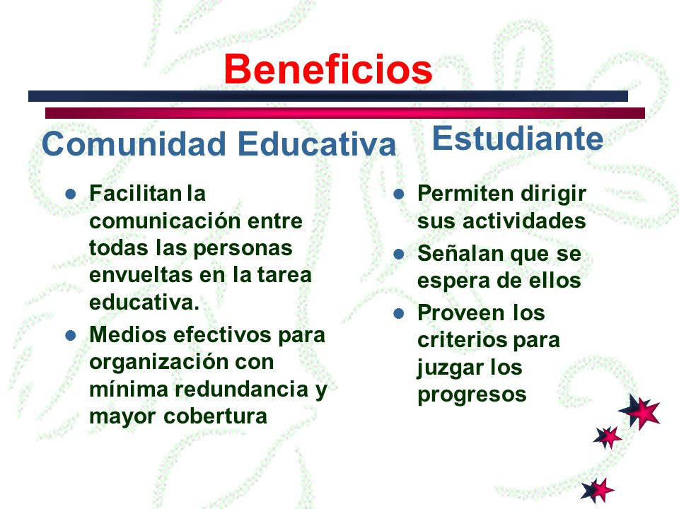 Beneficios Estudiante Comunidad Educativa