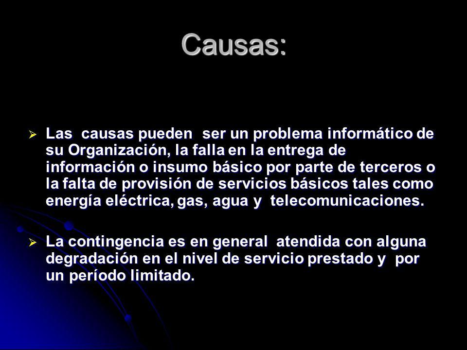 Causas: