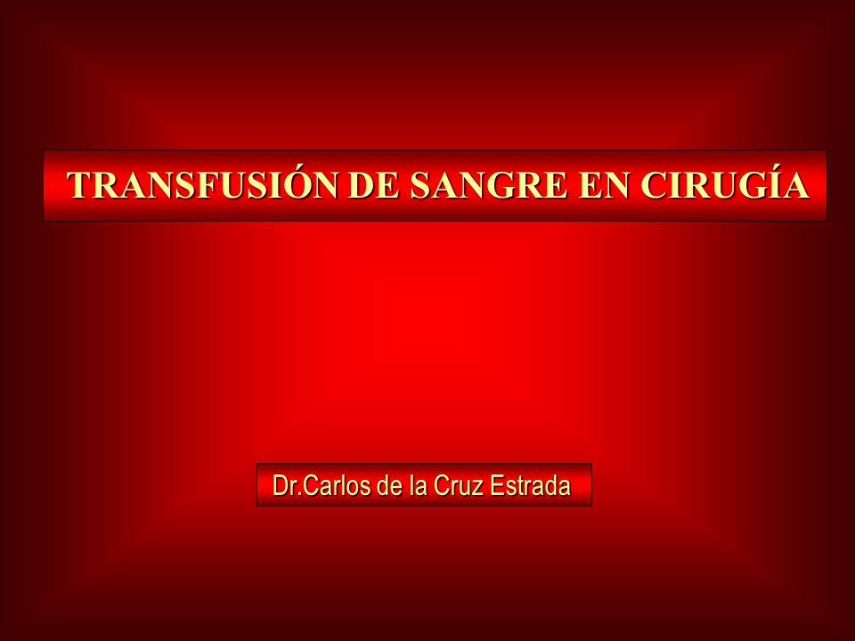 TRANSFUSIÓN DE SANGRE EN CIRUGÍA