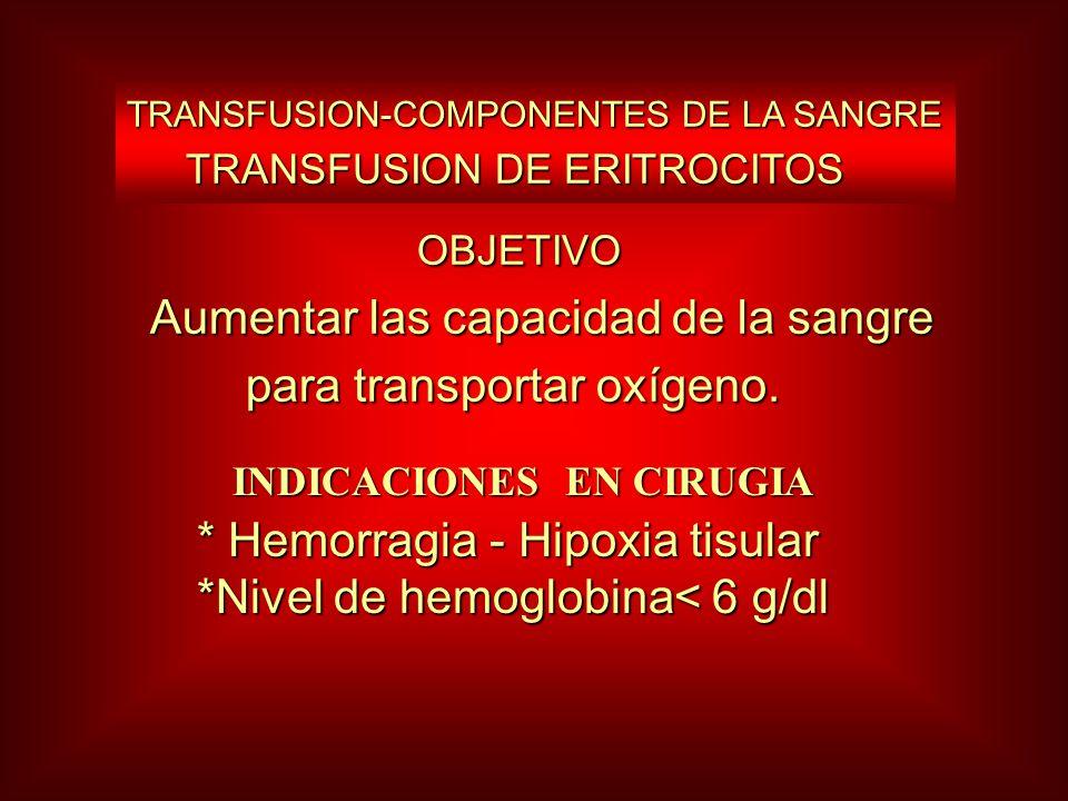 Aumentar las capacidad de la sangre para transportar oxígeno.