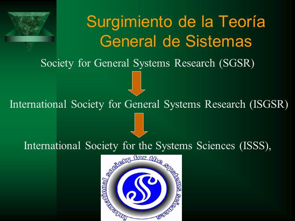 Surgimiento de la Teoría General de Sistemas