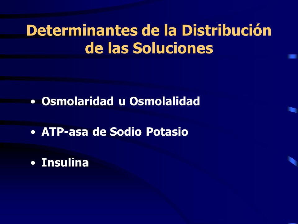 Determinantes de la Distribución de las Soluciones