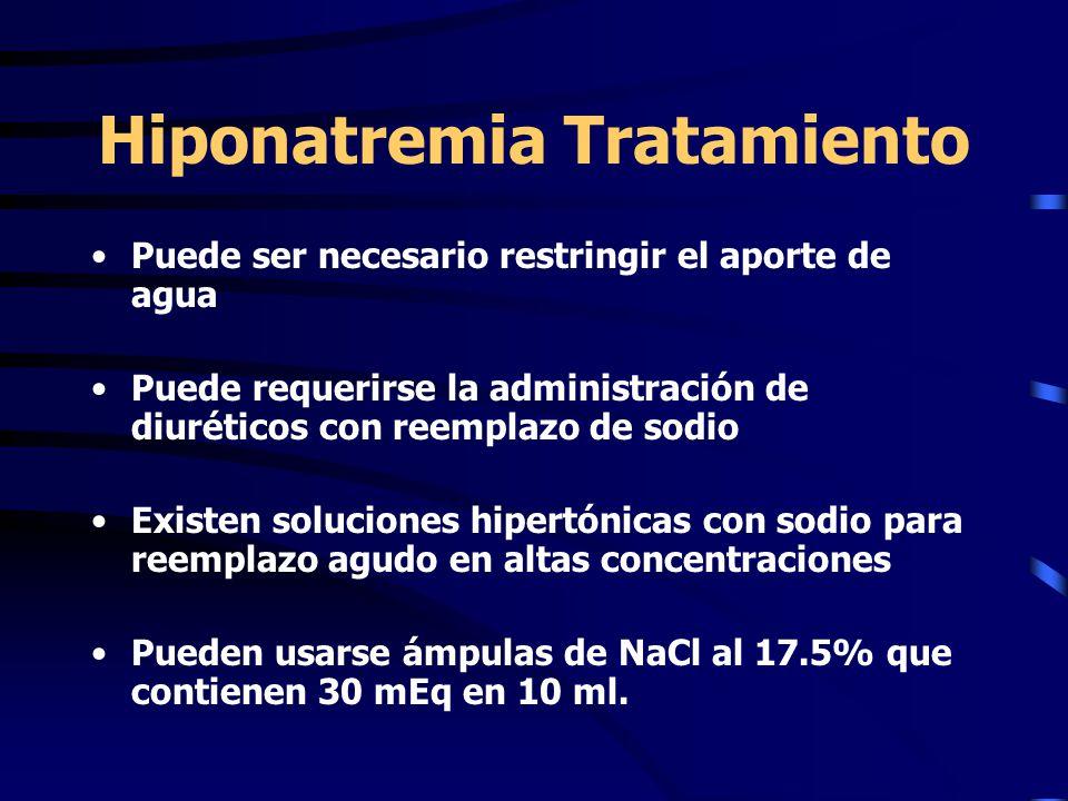 Hiponatremia Tratamiento