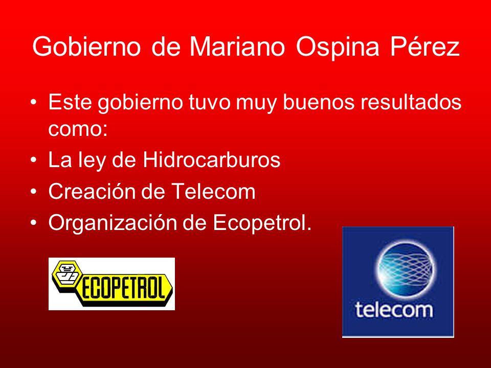 Gobierno de Mariano Ospina Pérez
