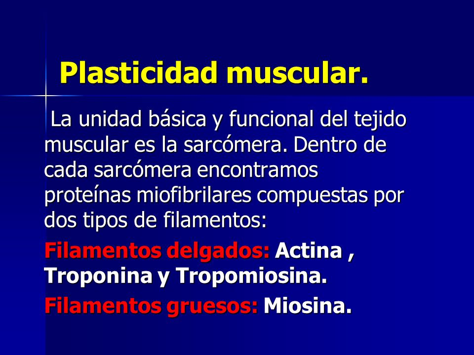 Plasticidad muscular.