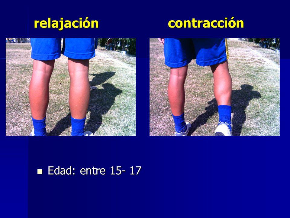relajación contracción Edad: entre 15- 17