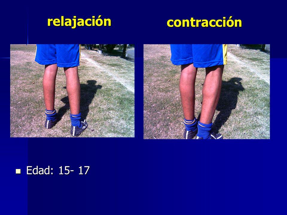 relajación contracción Edad: 15- 17