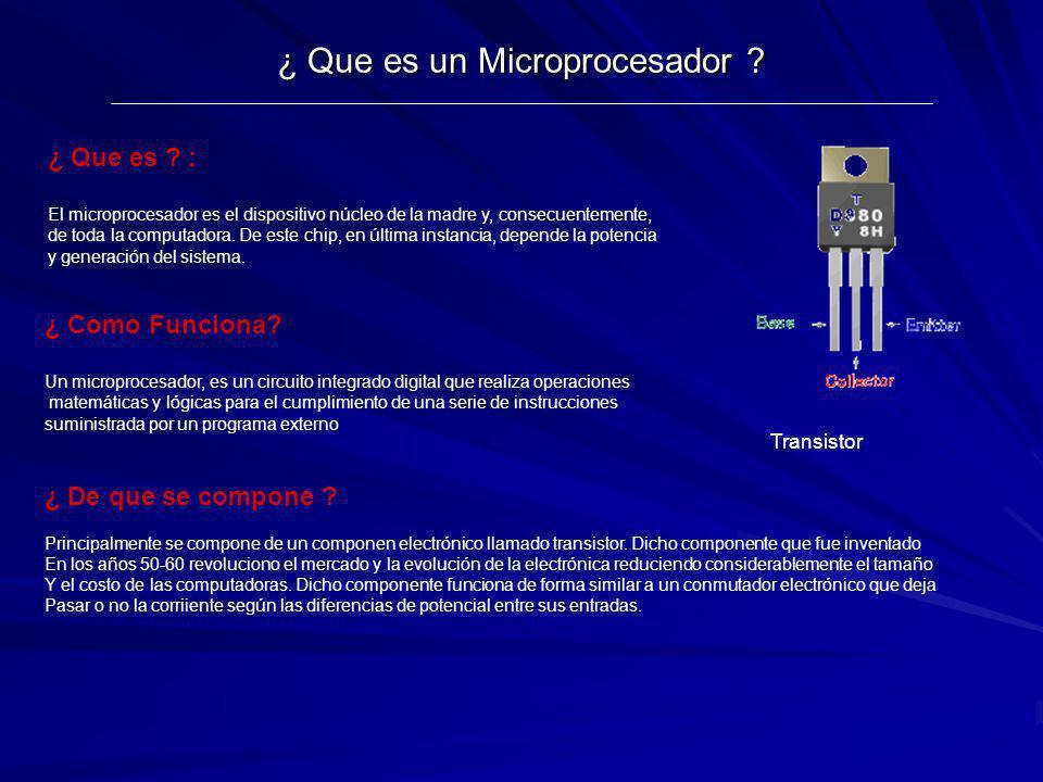 ¿ Que es un Microprocesador