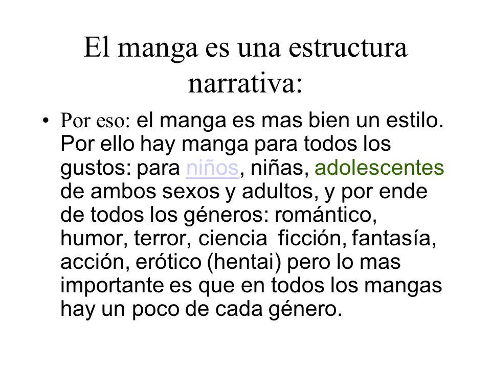 El manga es una estructura narrativa: