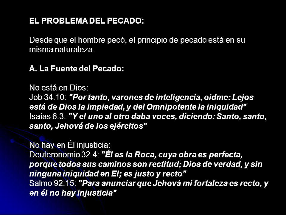 EL PROBLEMA DEL PECADO: