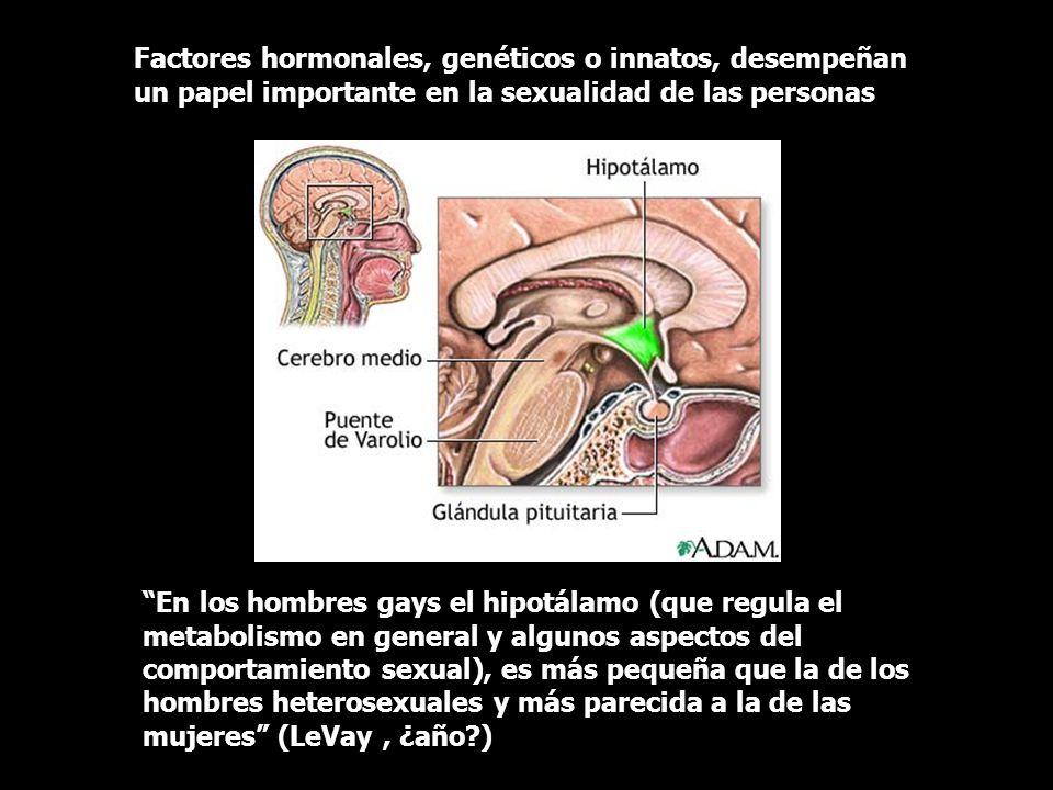 Factores hormonales, genéticos o innatos, desempeñan un papel importante en la sexualidad de las personas