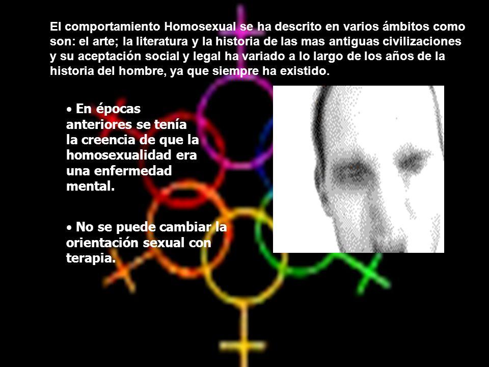 No se puede cambiar la orientación sexual con terapia.
