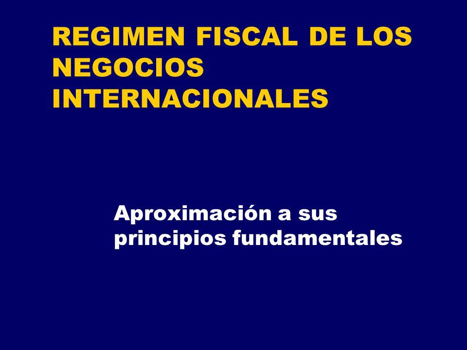REGIMEN FISCAL DE LOS NEGOCIOS INTERNACIONALES