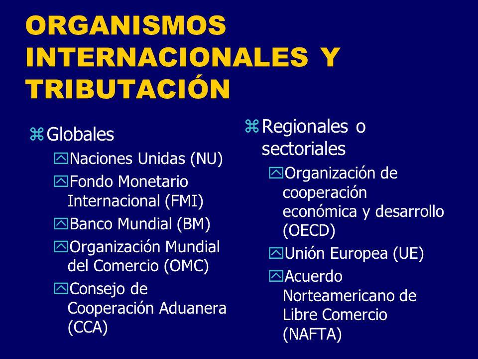 ORGANISMOS INTERNACIONALES Y TRIBUTACIÓN