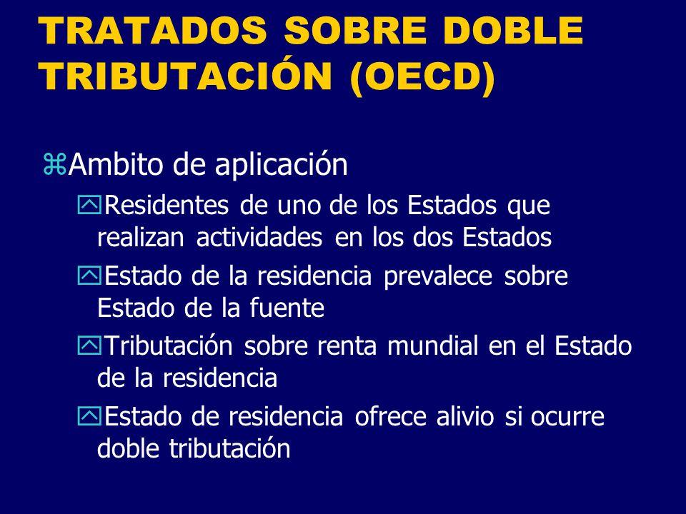 TRATADOS SOBRE DOBLE TRIBUTACIÓN (OECD)