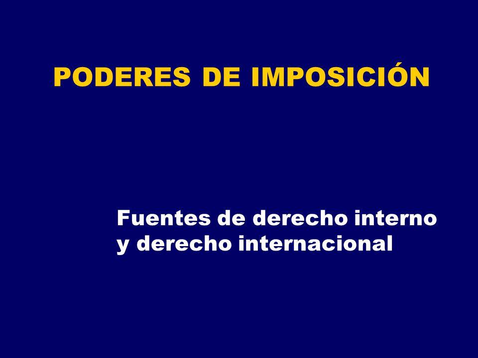 Fuentes de derecho interno y derecho internacional