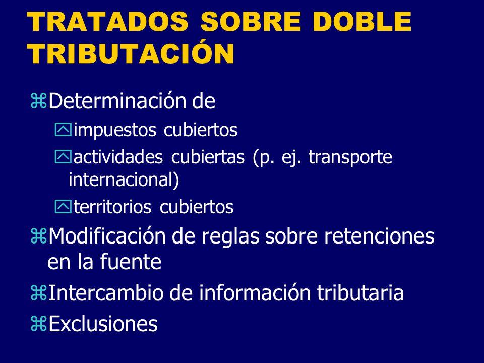 TRATADOS SOBRE DOBLE TRIBUTACIÓN