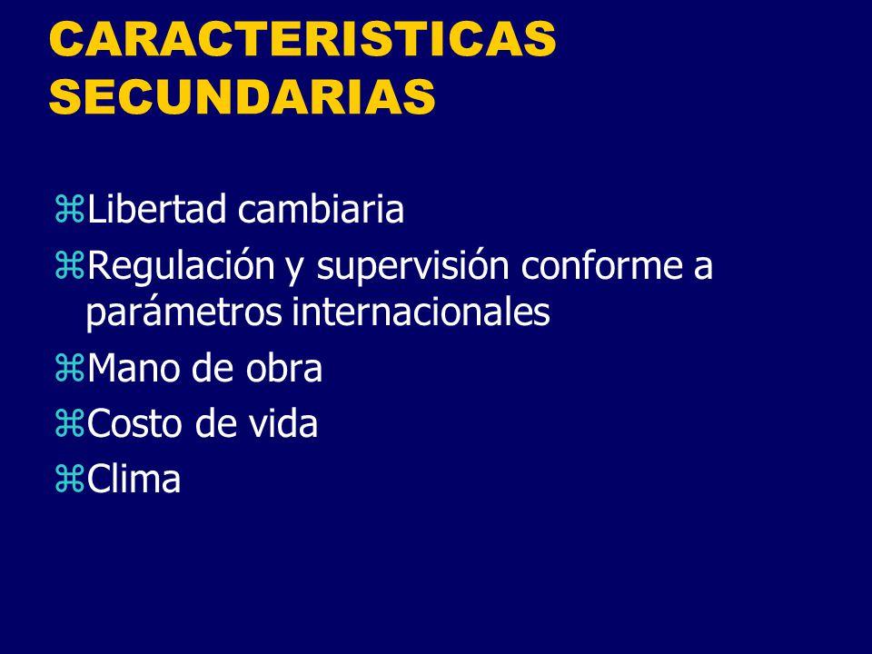 CARACTERISTICAS SECUNDARIAS