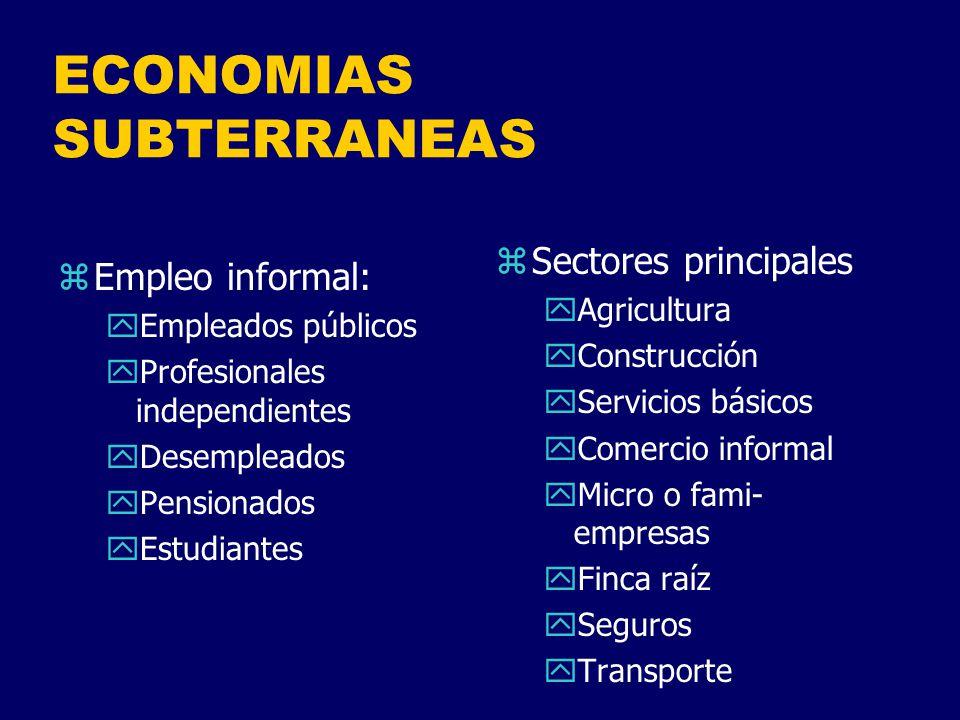 ECONOMIAS SUBTERRANEAS