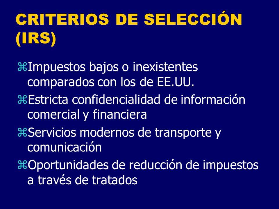 CRITERIOS DE SELECCIÓN (IRS)