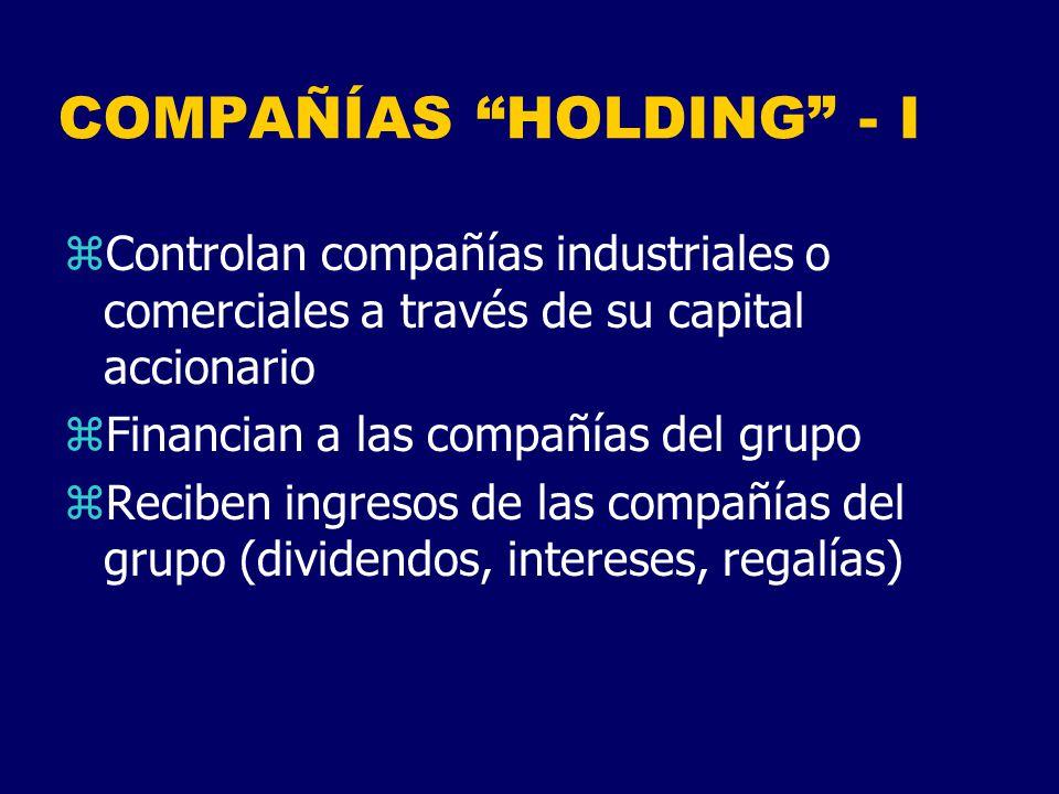 COMPAÑÍAS HOLDING - I