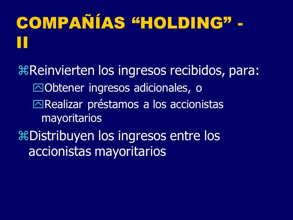 COMPAÑÍAS HOLDING - II