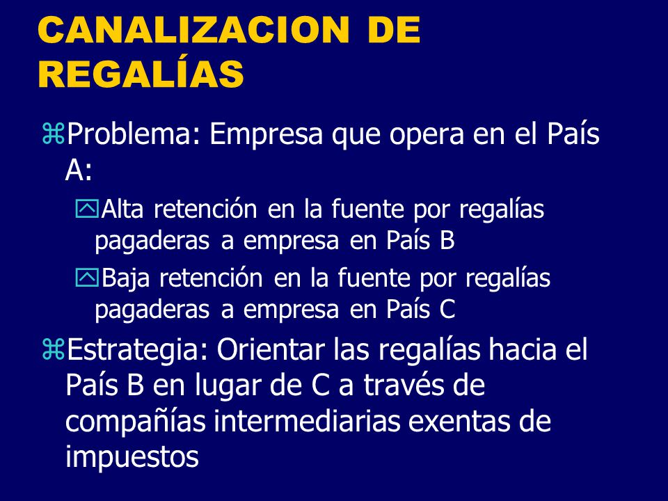 CANALIZACION DE REGALÍAS