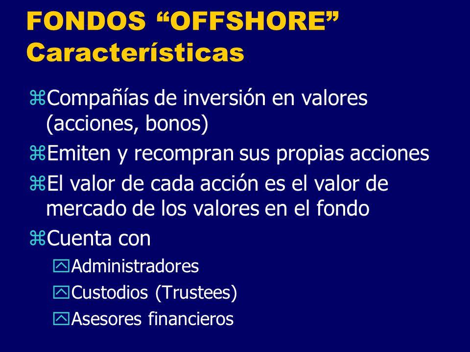 FONDOS OFFSHORE Características