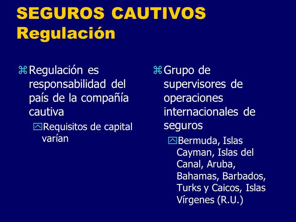 SEGUROS CAUTIVOS Regulación