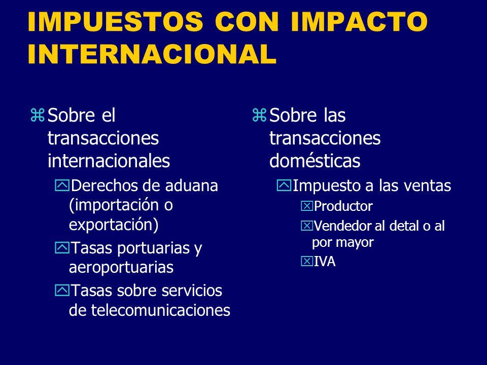 IMPUESTOS CON IMPACTO INTERNACIONAL