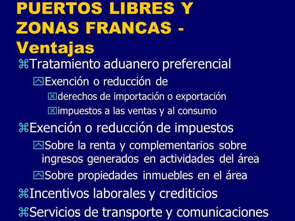 PUERTOS LIBRES Y ZONAS FRANCAS - Ventajas