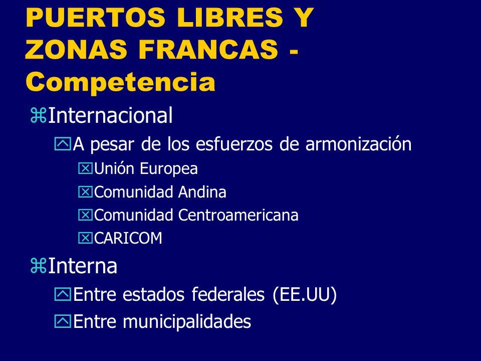 PUERTOS LIBRES Y ZONAS FRANCAS - Competencia