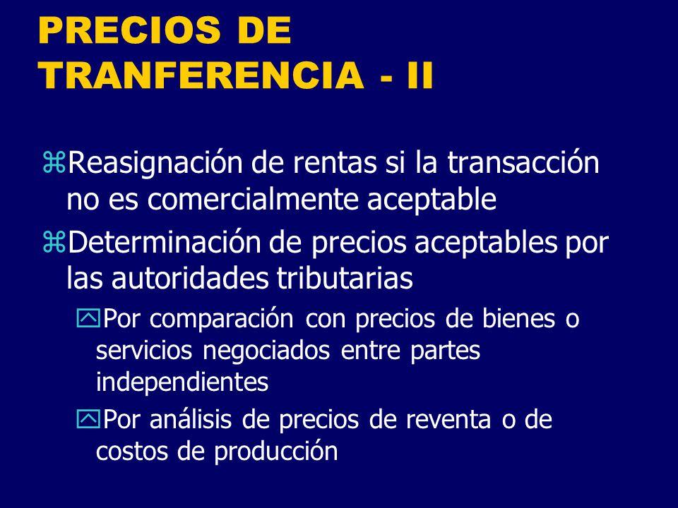 PRECIOS DE TRANFERENCIA - II