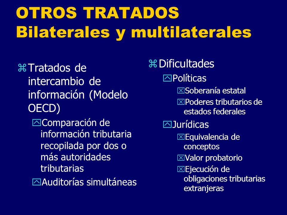 OTROS TRATADOS Bilaterales y multilaterales