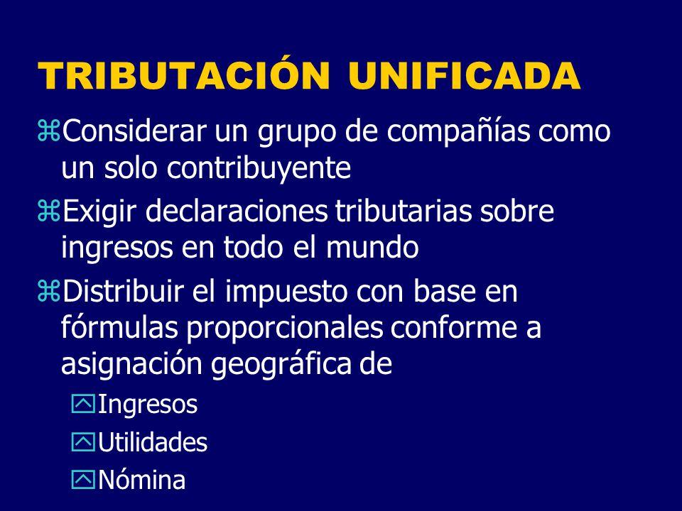 TRIBUTACIÓN UNIFICADA