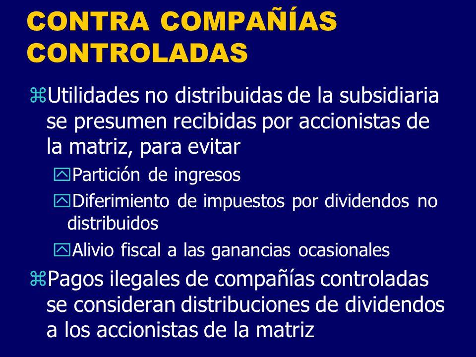 CONTRA COMPAÑÍAS CONTROLADAS