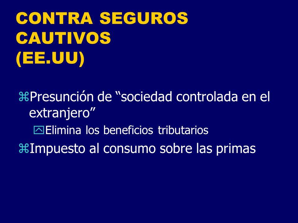CONTRA SEGUROS CAUTIVOS (EE.UU)