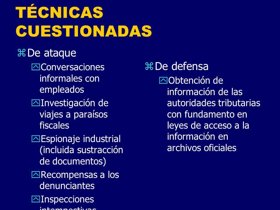 TÉCNICAS CUESTIONADAS