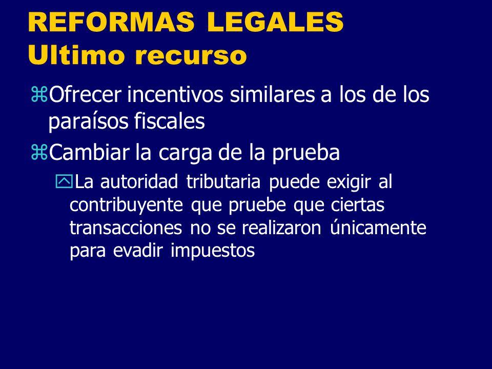 REFORMAS LEGALES Ultimo recurso