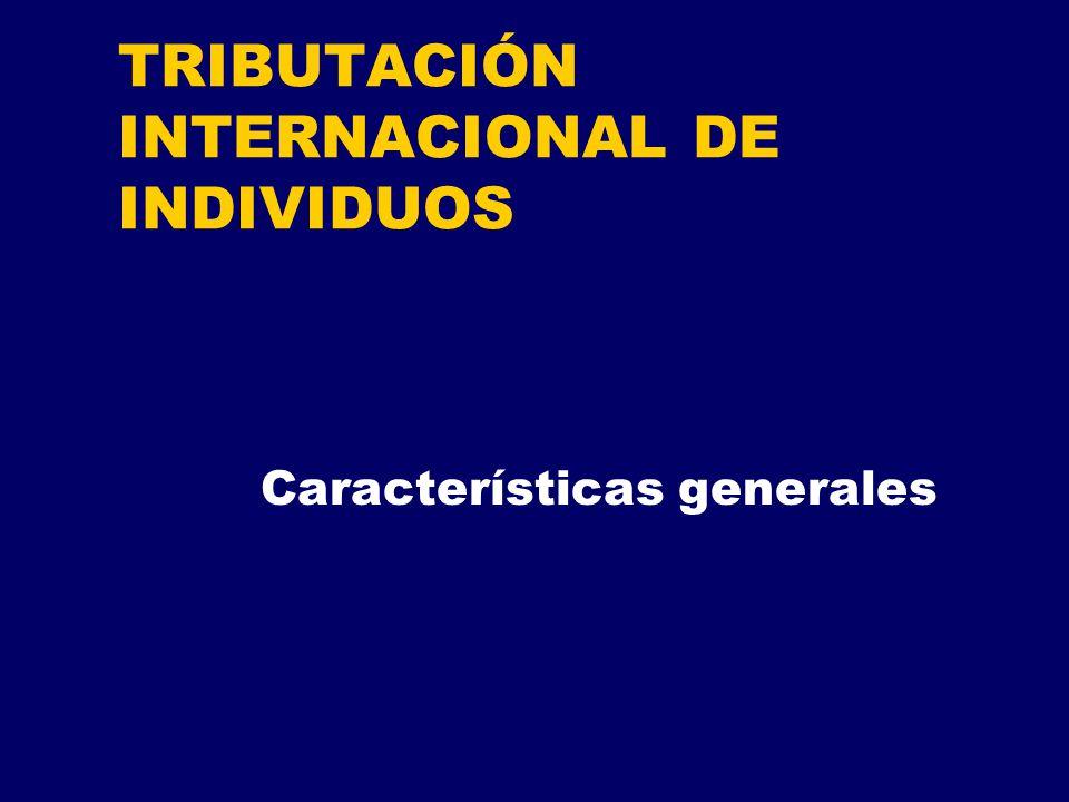 TRIBUTACIÓN INTERNACIONAL DE INDIVIDUOS