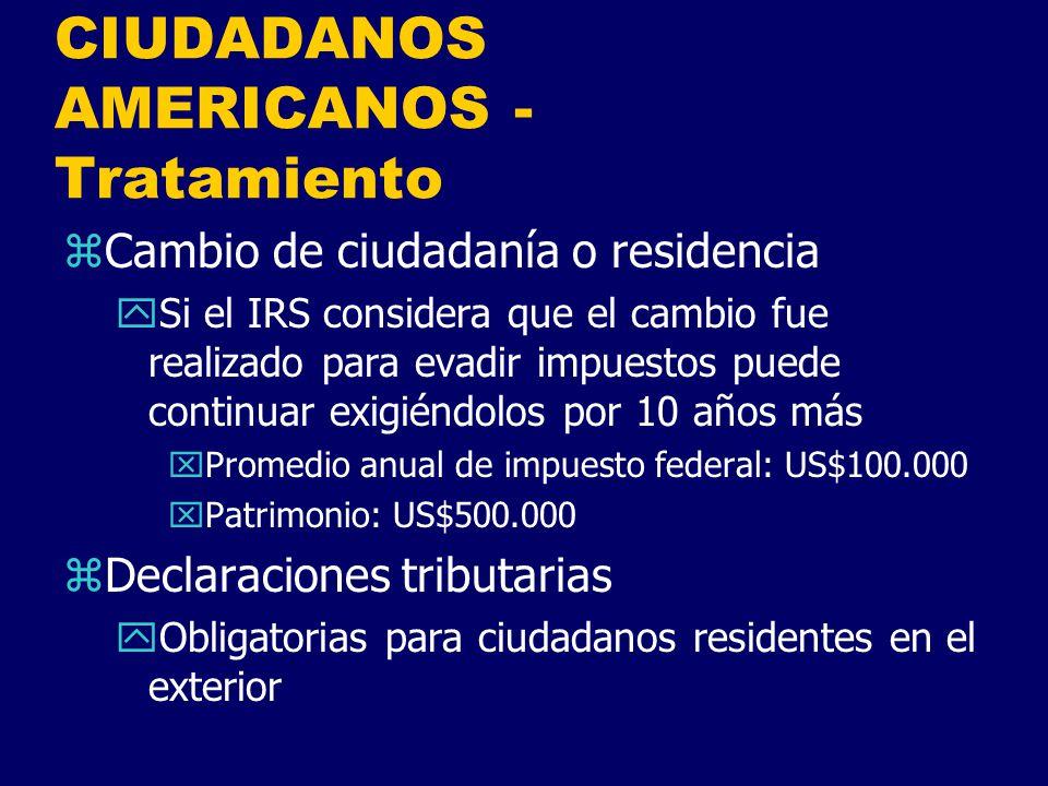 CIUDADANOS AMERICANOS - Tratamiento