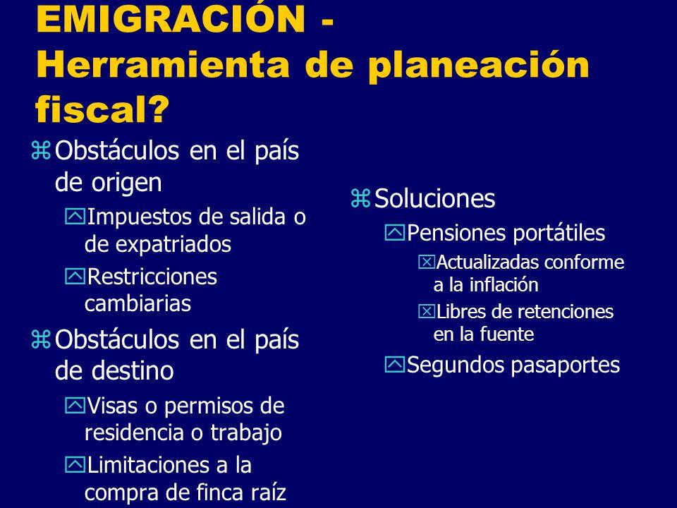 EMIGRACIÓN - Herramienta de planeación fiscal